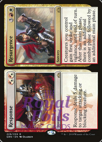 **1x FOIL Response // Resurgence** GRN MTG Guilds of Ravnica Rare MINT red white