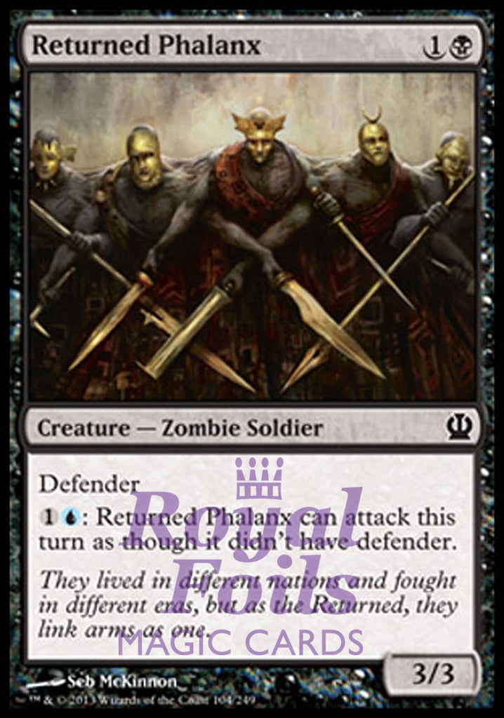 **4x FOIL Returned Phalanx** THS MTG Theros Common MINT black