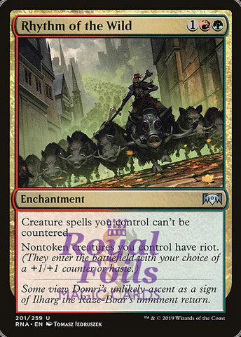**1x FOIL Rhythm of the Wild** RNA MTG Ravnica Allegiance Uncommon MINT red green
