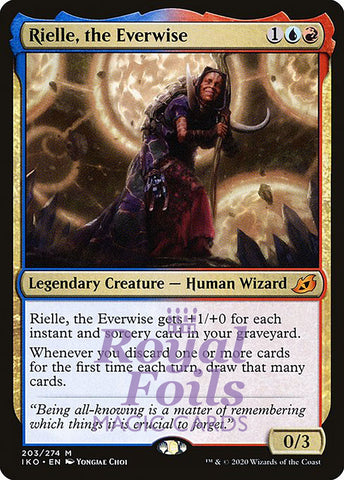 **1x FOIL Rielle, the Everwise** IKO MTG Ikoria Mythic MINT blue red