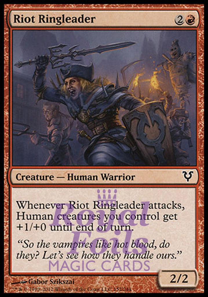 **3x FOIL Riot Ringleader** AVR MTG Avacyn Restored Common MINT red