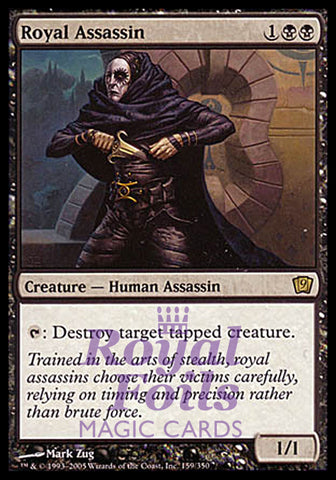 **1x FOIL Royal Assassin** MTG 9th Ninth Edition Rare MINT black