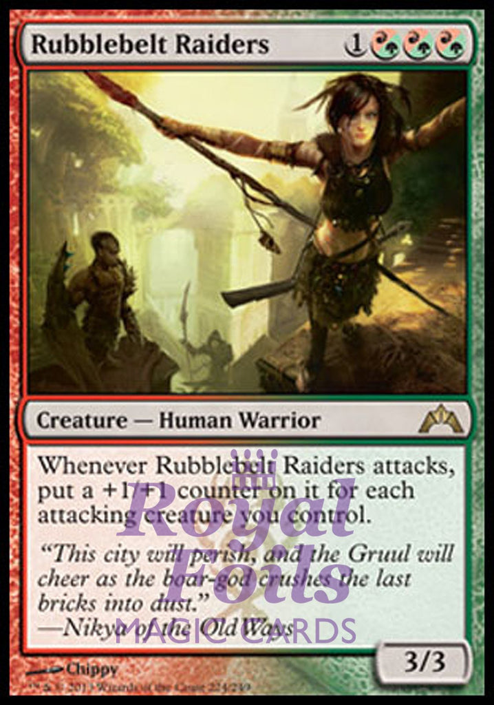 **1x FOIL Rubblebelt Raiders** GTC MTG Gatecrash Rare MINT red green
