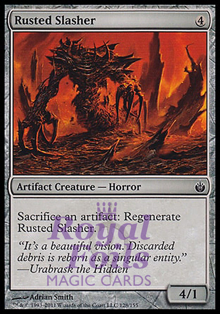 **4x FOIL Rusted Slasher** MBS MTG Mirrodin Besieged Common MINT artifact