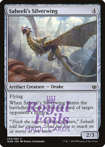 **2x FOIL Saheeli's Silverwing** WAR MTG War of the Spark Common MINT artifact
