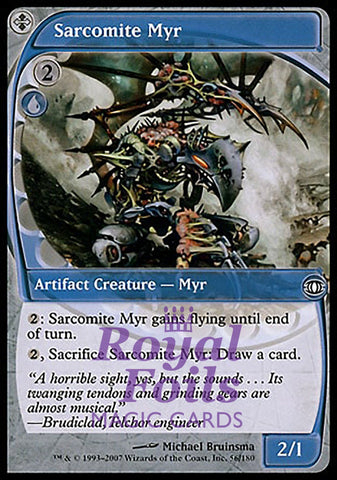 **2x FOIL Sarcomite Myr** FUT MTG Future Sight Common NM+ blue