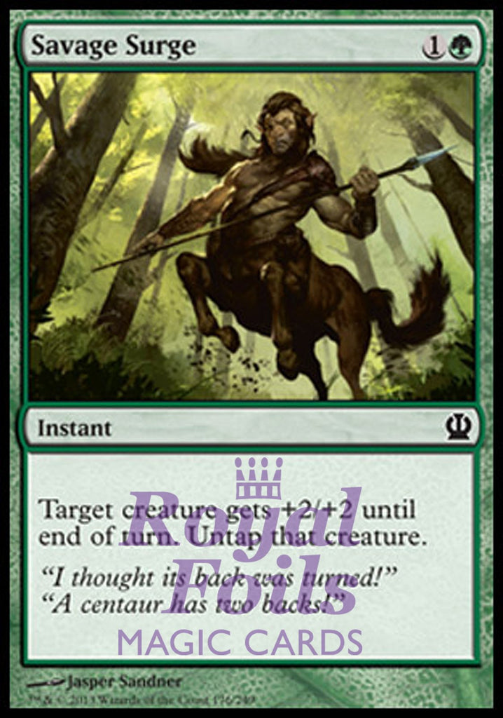 **4x FOIL Savage Surge** THS MTG Theros Common MINT green