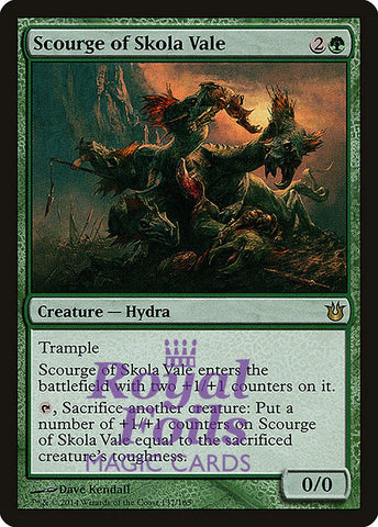 **1x FOIL Scourge of Skola Vale** BNG MTG Born of the Gods Rare MINT green