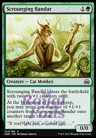 **4x FOIL Scrounging Bandar** AER MTG Aether Revolt Common MINT green