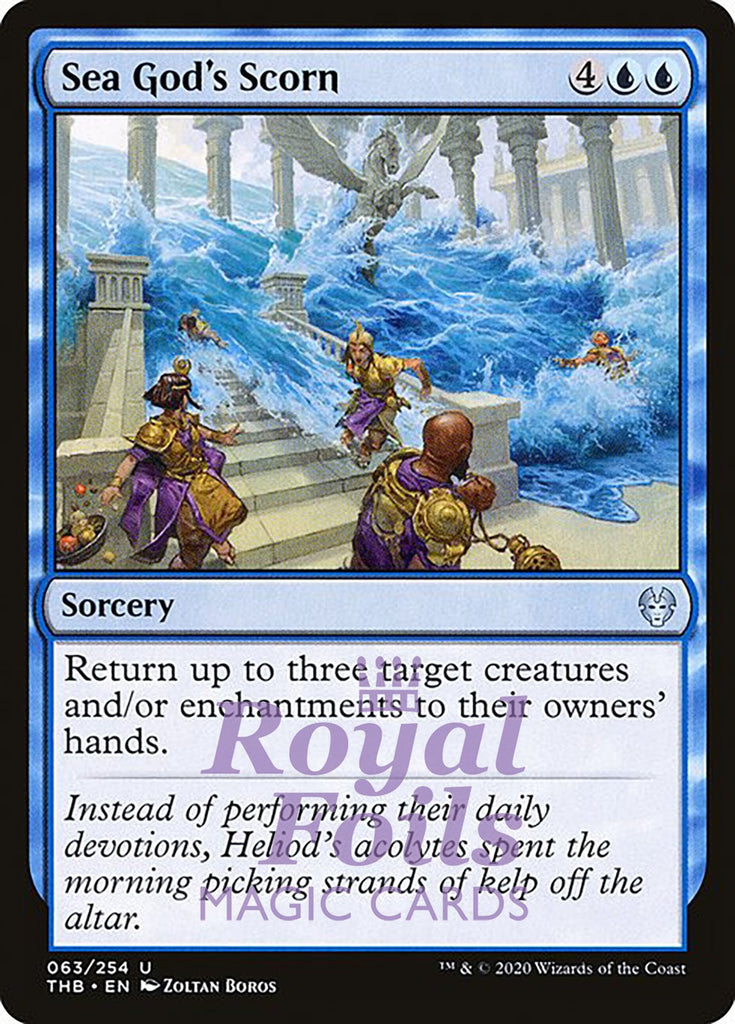 **4x FOIL Sea God's Scorn** THB MTG Theros Beyond Death Uncommon MINT blue
