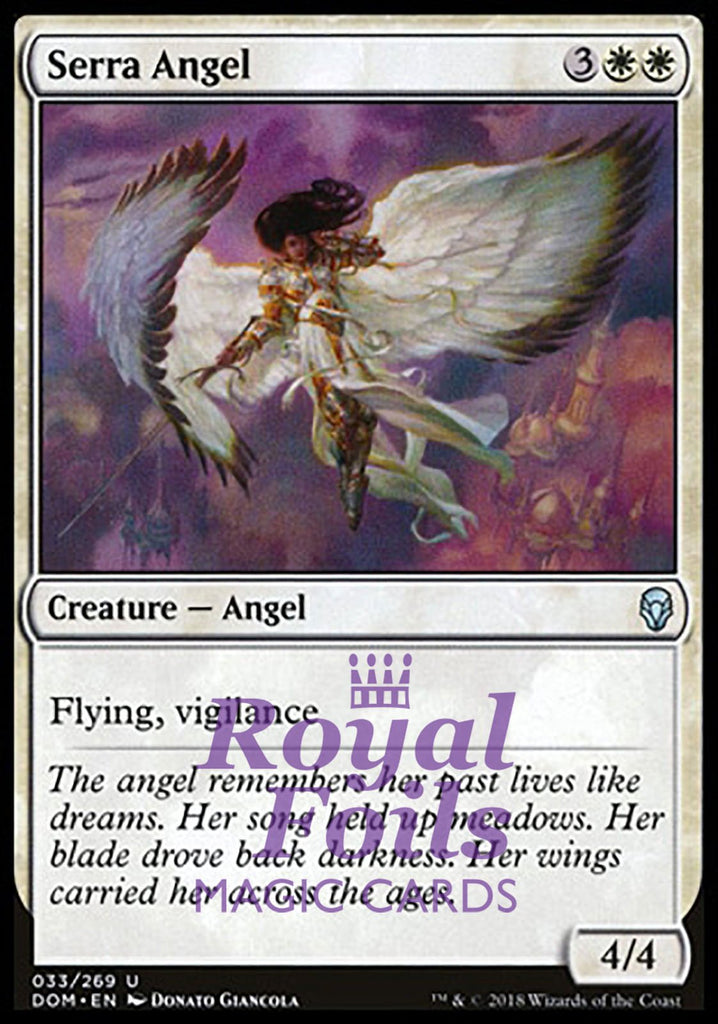 **2x FOIL Serra Angel** DOM MTG Dominaria Uncommon MINT white