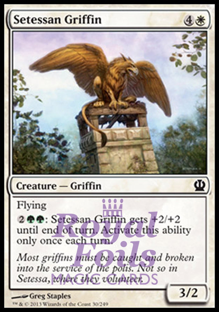 **4x FOIL Setessan Griffin** THS MTG Theros Common MINT white