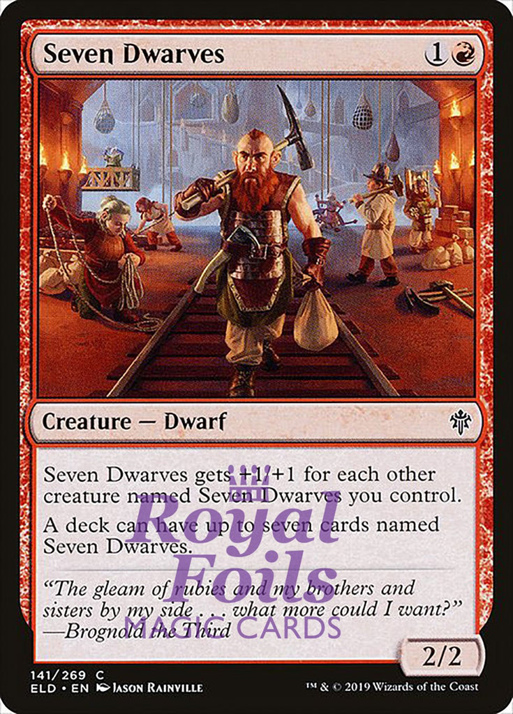 **1x FOIL Seven Dwarves** ELD MTG Throne of Eldraine Common MINT red