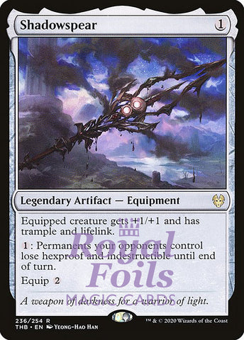 **1x FOIL Shadowspear** THB MTG Theros Beyond Death Rare MINT artifact