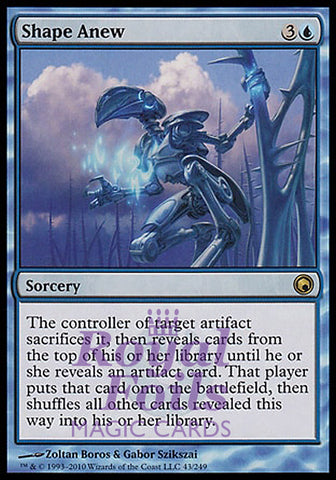 **1x FOIL Shape Anew** SOM MTG Scars of Mirrodin Rare MINT blue