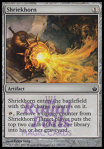 **1x FOIL Shriekhorn** MBS MTG Mirrodin Besieged Common MINT artifact