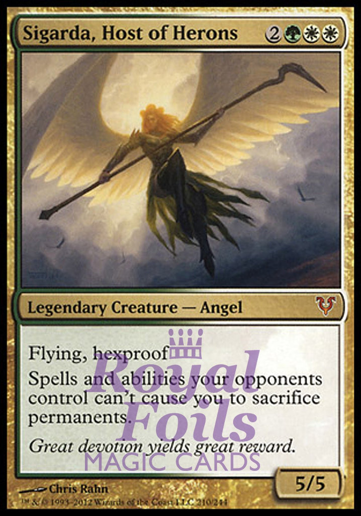 **1x FOIL Sigarda, Host of Herons** AVR MTG Avacyn Restored Mythic MINT green white