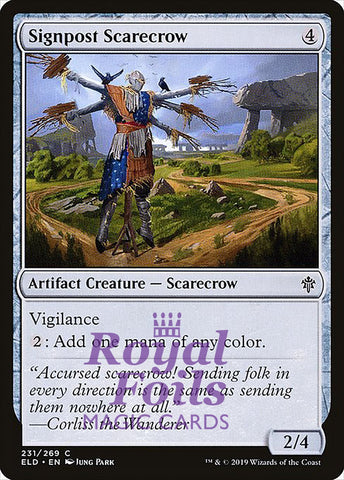 **4x FOIL Signpost Scarecrow** ELD MTG Throne of Eldraine Common MINT artifact