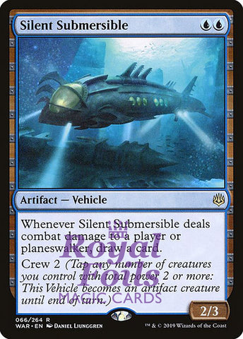 **1x FOIL Silent Submersible** WAR MTG War of the Spark Rare MINT blue