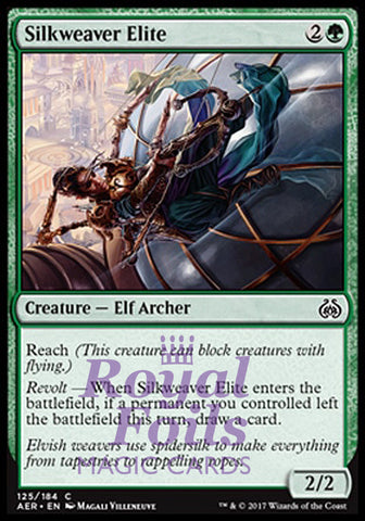 **4x FOIL Silkweaver Elite** AER MTG Aether Revolt Common MINT green