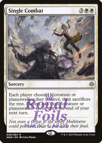 **1x FOIL Single Combat** WAR MTG War of the Spark Rare MINT white