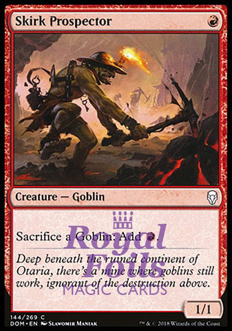 **1x FOIL Skirk Prospector** DOM MTG Dominaria Common MINT red