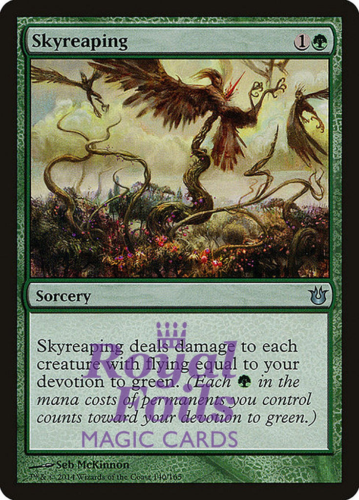 **4x FOIL Skyreaping** BNG MTG Born of the Gods Uncommon MINT green