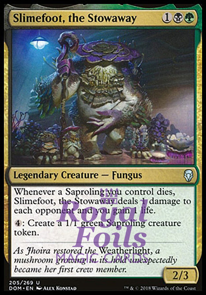**1x FOIL Slimefoot, the Stowaway** DOM MTG Dominaria Uncommon MINT black green