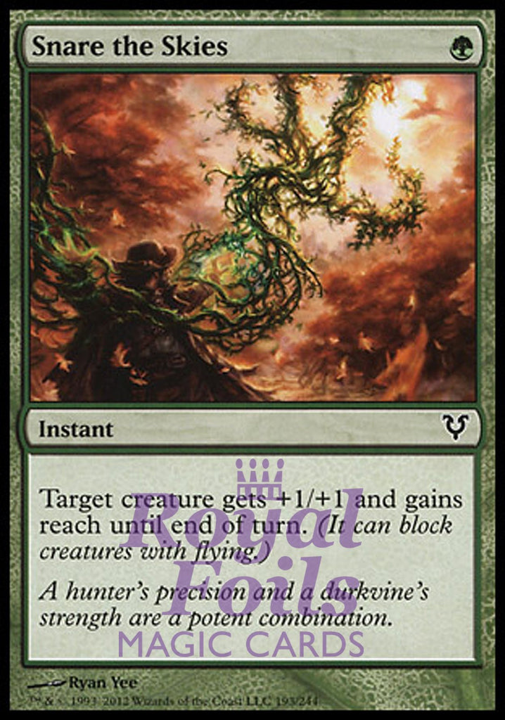 **3x FOIL Snare the Skies** AVR MTG Avacyn Restored Common MINT green