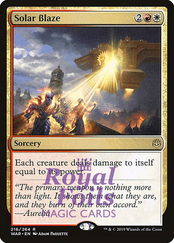 **1x FOIL Solar Blaze** WAR MTG War of the Spark Rare MINT red white