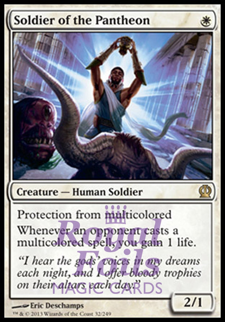 **1x FOIL Soldier of the Pantheon** THS MTG Theros Rare MINT white