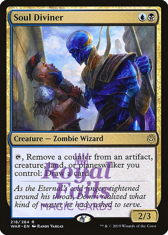 **1x FOIL Soul Diviner** WAR MTG War of the Spark Rare MINT blue black