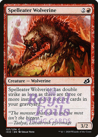 **4x FOIL Spelleater Wolverine** IKO MTG Ikoria Common MINT red