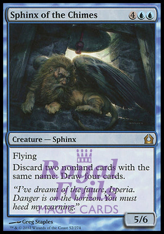 **2x FOIL Sphinx of the Chimes** RTR MTG Return to Ravnica Rare MINT blue