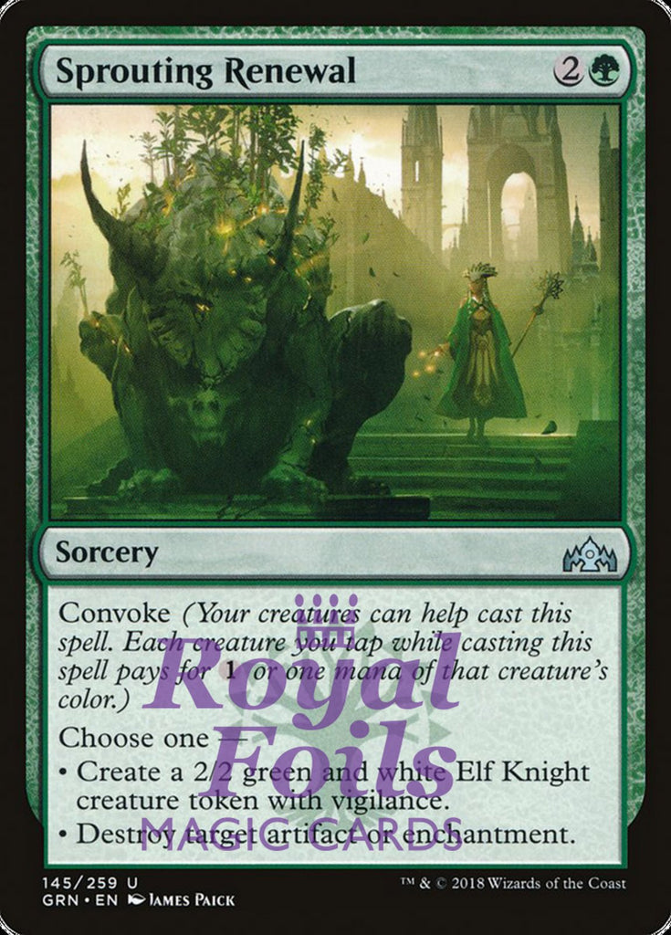 **2x FOIL Sprouting Renewal** GRN MTG Guilds of Ravnica Uncommon MINT green