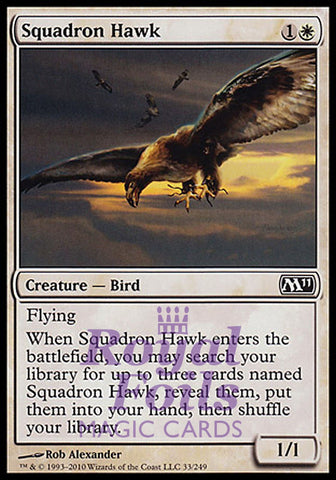 **1x FOIL Squadron Hawk** MTG M11 Core Set Common MINT white