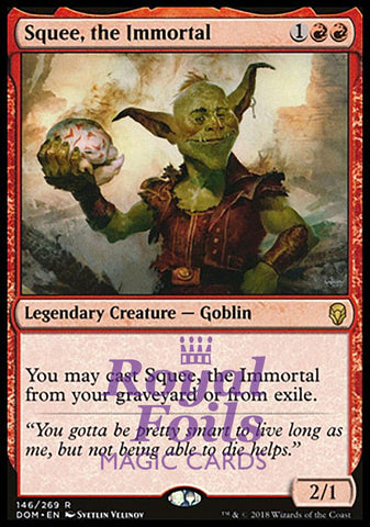 **1x FOIL Squee, the Immortal** DOM MTG Dominaria Rare MINT red