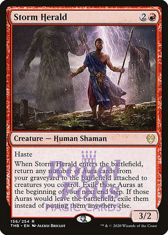 **2x FOIL Storm Herald** THB MTG Theros Beyond Death Rare MINT red
