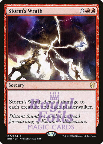 **1x FOIL Storm's Wrath** THB MTG Theros Beyond Death Rare MINT red