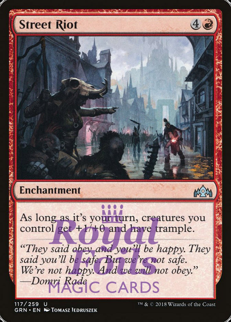 **2x FOIL Street Riot** GRN MTG Guilds of Ravnica Uncommon MINT red