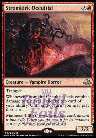 **2x FOIL Stromkirk Occultist** EMN MTG Eldritch Moon Rare MINT red