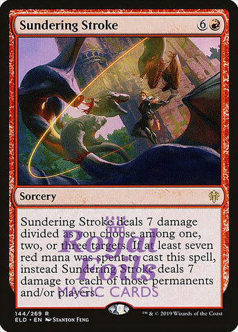 **2x FOIL Sundering Stroke** ELD MTG Throne of Eldraine Rare MINT red