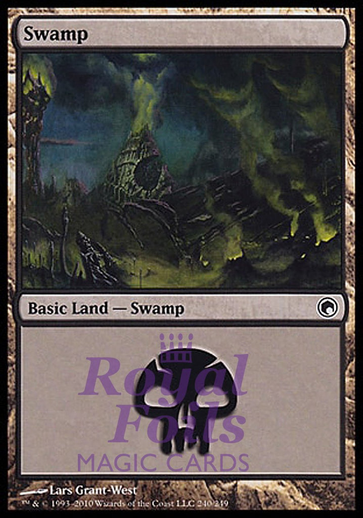 **2x FOIL Swamp #240** THS MTG Theros Basic Land MINT black