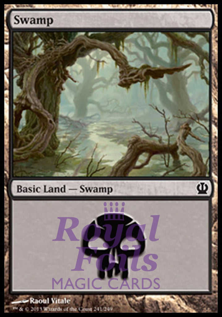 **2x FOIL Swamp #241** THS MTG Theros Basic Land MINT black