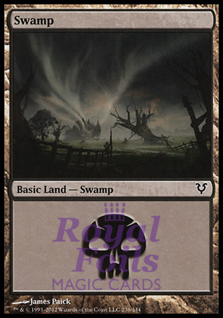 **2x FOIL Swamp #236** AVR MTG Avacyn Restored Basic Land MINT black