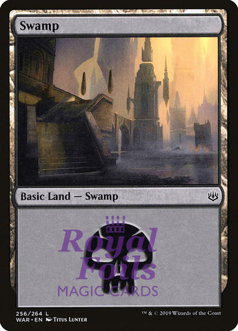 **2x FOIL Swamp #256** WAR MTG War of the Spark Basic Land MINT black