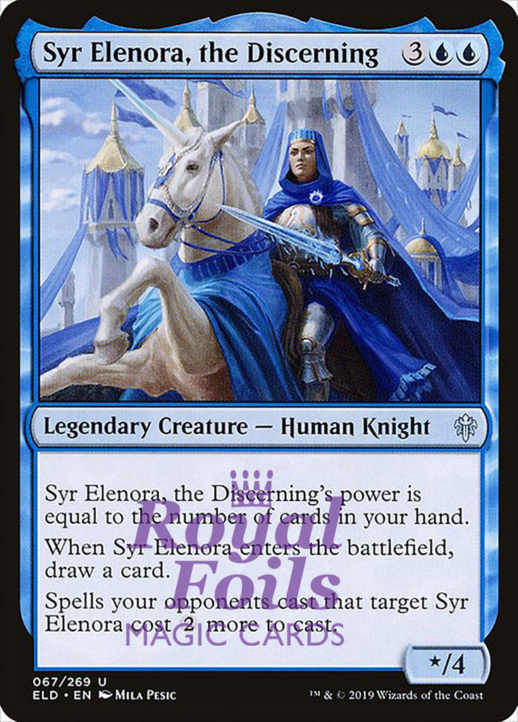**4x FOIL Syr Elenora, the Discerning** ELD MTG Throne of Eldraine Uncommon MINT blue