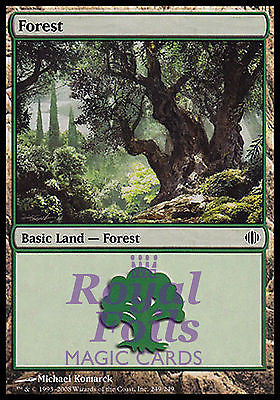 **2x FOIL Forest #249** ALA MTG Shards of Alara MINT basic land