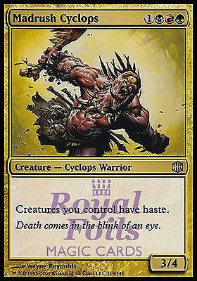 **1x FOIL Madrush Cyclops** ARB MTG Alara Reborn Rare MT black red green