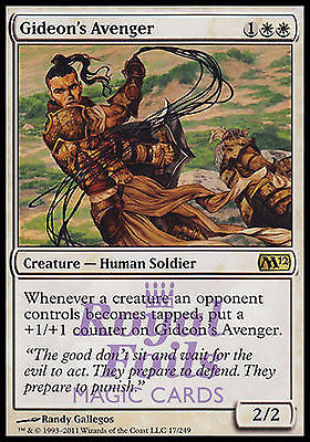 **1x FOIL Gideon's Avenger** MTG M12 Magic 2012 Core Set Rare MINT white